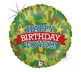 """Fooliumist õhupall """"Sõjaväeline sünnipäev"""", holograafiline (46 cm)"""