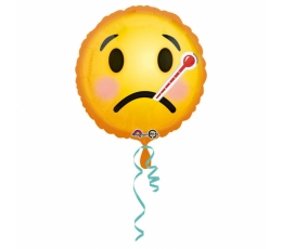 """Fooliumist õhupall """"Soovin teile paranemist- Smile"""" (43 cm)"""