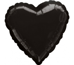 Fooliumist õhupall-süda, must (43 cm)