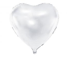 Fooliumist õhupall-süda, valge (45 cm)