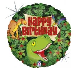 """Fooliumist õhupall """"Sünnipäev dinosaurustega"""" (46 cm)"""