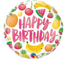 """Fooliumist õhupall """"Sünnipäeva puuviljad"""" (45 cm)"""