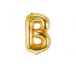 """Fooliumist õhupall-täht """"B"""", kuldne (35 cm)"""
