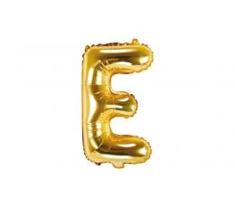"""Fooliumist õhupall-täht """"E"""", kuldne (35 cm)"""