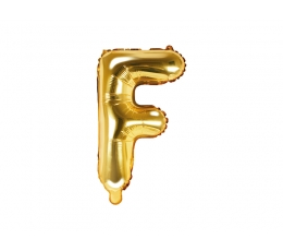 """Fooliumist õhupall-täht """"F"""", kuldne (35 cm)"""