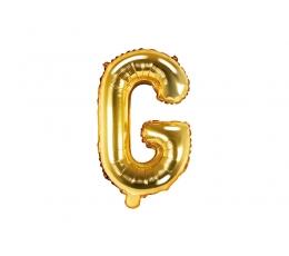 """Fooliumist õhupall-täht """"G"""", kuldne (35 cm)"""