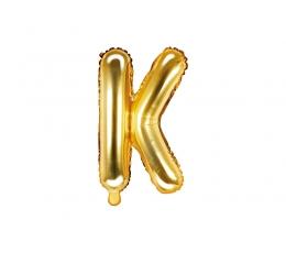 """Fooliumist õhupall-täht """"K"""", kuldne (35 cm)"""