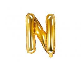 """Fooliumist õhupall-täht """"N"""", kuldne (35 cm)"""