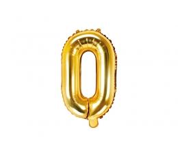 """Fooliumist õhupall-täht """"O"""", kuldne (35 cm)"""