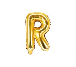 """Fooliumist õhupall-täht """"R"""", kuldne (35 cm)"""