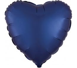 """Fooliumist õhupall """"Tumesinine süda"""" (43 cm)"""