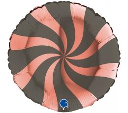"""Fooliumist õhupall """"Vurr"""", hall-roosa kuldne (46 cm)"""
