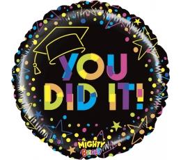 "Fooliumist õhupall '""You did it!"" (53 cm)"