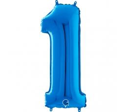 """Fooliumist õhupalli number """"1"""", sinine (66 cm)"""