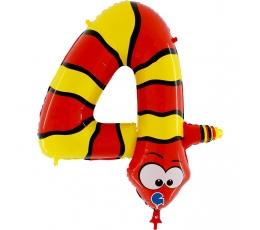 """Fooliumist õhupalli number """"4 - madu"""" (102 cm)"""