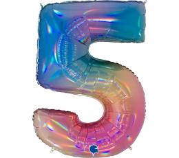 """Fooliumist õhupalli number """"5"""", mitmevärviline (102 cm)"""