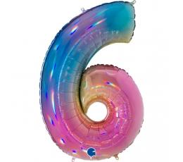 """Fooliumist õhupalli number """"6"""", mitmevärviline (102 cm)"""