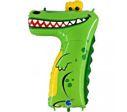 """Fooliumist õhupalli number """"7 - krokodill"""" (102 cm)"""