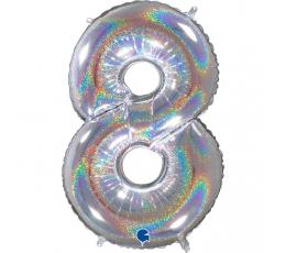 """Fooliumist õhupalli number """"8"""", holograafiline (66 cm)"""
