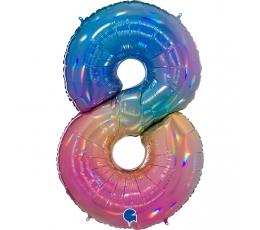 """Fooliumist õhupalli number """"8"""", mitmevärviline (102 cm)"""