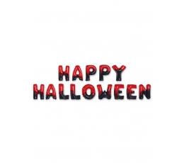 """Fooliumist õhupallide komplekt """"Happy Halloween"""" , punane must (40 cm)"""