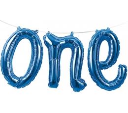 """Fooliumist õhupallide vanik """"One"""", sinine"""