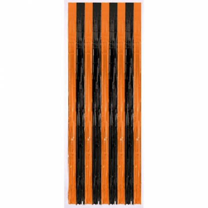 Fooliumkardi-vihm, oranžikas-must (243 x 91 cm)