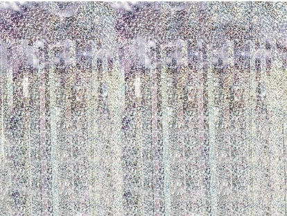 Fooliumkardin - vihm, holograafiline (90 x 250 cm)