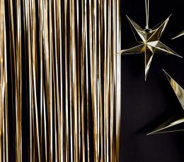 Fooliumkardin-vihm, kuldpruun (90x250 cm) 1