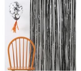 Fooliumkardin-vihm, must (245x91 cm)