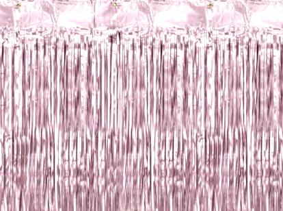Fooliumkardin-vihm, roosa (90x250 cm)