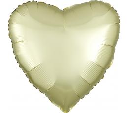 "Fooliumõhupall ""Kollane süda"", matt (43 cm)"