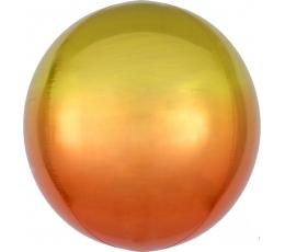 Fooliumõhupall-orbz, kollakasoranž ombre (38 cm)