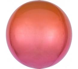 Fooliumõhupall-orbz, punane-oranž ombre (38 cm)