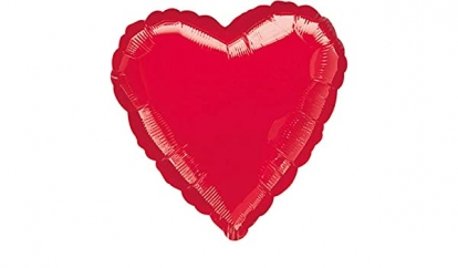 """Fooliumõhupall """"Punane süda"""" (43 cm)"""