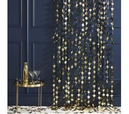 Fooliumtähtede kardin, kuldne (2 mx1,2 m)