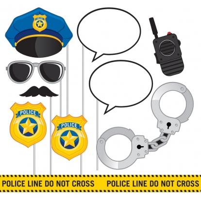 """Fotosessiooni aksessuaarid """"Politsei"""" (10 tk.)"""