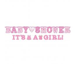 """Vanik, """"Baby Shower/It's a girl"""", roosa (2 tk.)"""