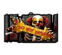 """Halloweeni silt """"Do not enter"""""""