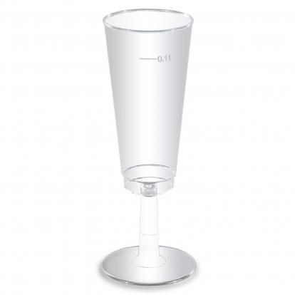 Joogipokaalid, läbipaistvad (6 tk / 100 ml)