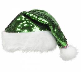 Jõuluvana müts litritega, punane / roheline 2