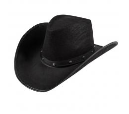Must kaabu metallist kaunistustega