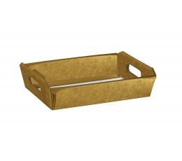 Kandik käepidemetega, kuldne (31X22X9 cm)