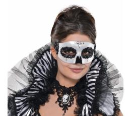 Karnevalimask, must-valge