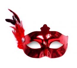 Karnevalimask sulega, punane