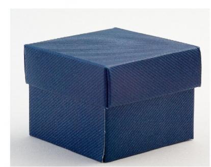 Kinkekarp - Blu Scia ristkülikukujuline / sinine (1 tk/120 * 120 * 150 mm.)