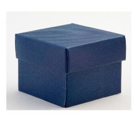 Kinkekarp - Blu Scia ruudukujuline / sinine (1 tk / 140x140x110 mm.)