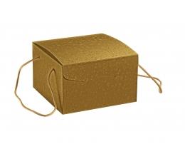 Karp käepidemetega, kuldne (24,5X24,5X15 cm)