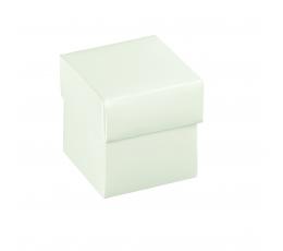 Karp kaanega, valge (5x5x5 cm)