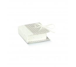 Karp-raamat, hallikas valge (7x6x2,5cm)